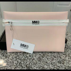 MM6 MAISON MARTIN MARGIELA Pink Zipper Clutch NWT